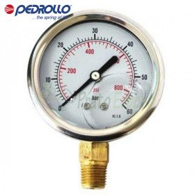 Pressure gauge 0 to 6 bar in glycerine bath