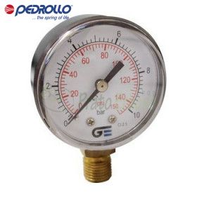 Pressure gauge 0 to 10 bar glycerine-filled
