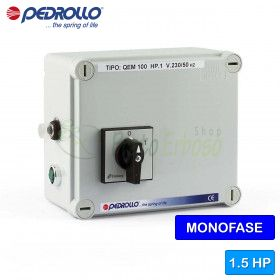 QEM 150 - electric panel for electric pump, single phase 1.5 HP