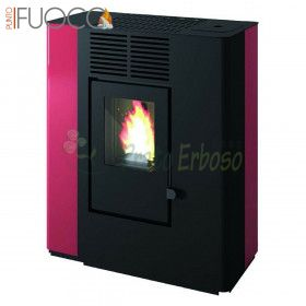 In - pellet Stove from 9.2 Kw red
