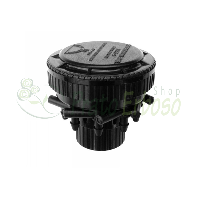 Distributor and pressure regulator with 9 outlets