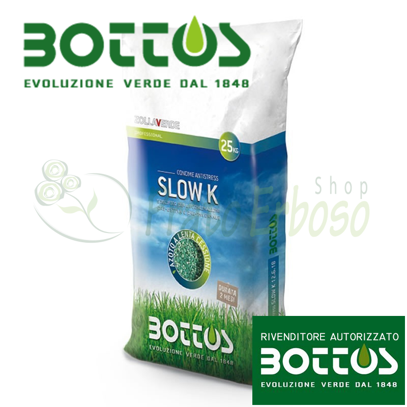 Slow K 13-5-20 + 2 MgO - Fertilizer for the lawn 25 Kg