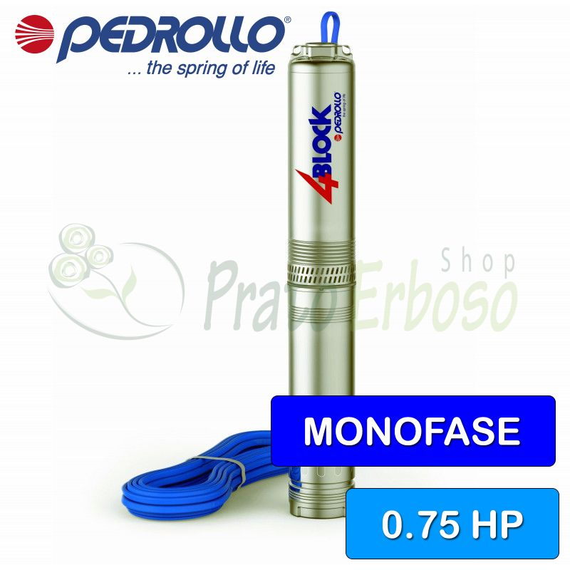 4BLOCKm 2/10 (20m) - submersible Pump single phase, 0.75 HP