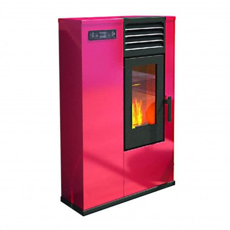 Susy - pellet Stove 7.5 Kw red