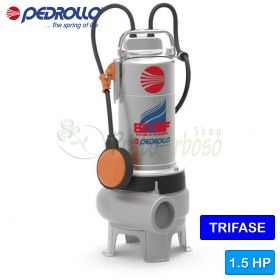 BC 15/50-MF - electric Pump for sewage water with dual-CHANNEL three-phase