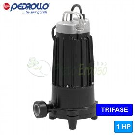 TR 0.75 - submersible electric Pump with shredder three phase