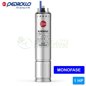 """4PDm / 1 - 4 """"1 HP single-phase rewindable motor"""