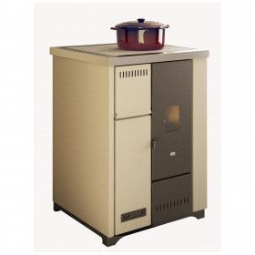 Lea - Stove cooking pellet: 7.5 kw ivory