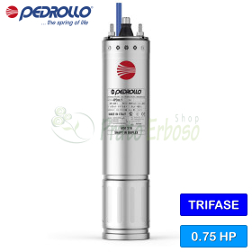 """4PD/0.75 - Motor rewindable 4"""" 0.75 HP three-phase"""