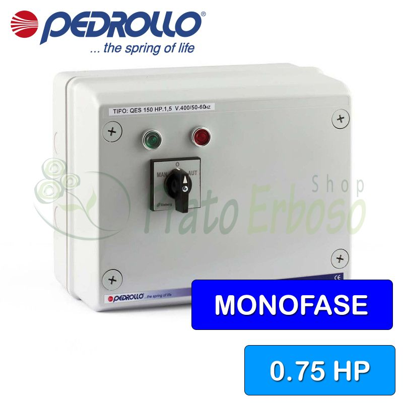 QSM 075 - electric panel for electric pump, single-phase 0.75 HP