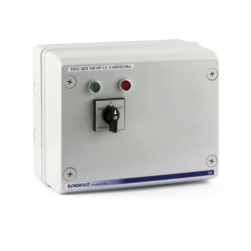 QSM 100 - Electric panel for 1 HP single-phase electric pump