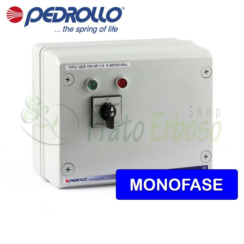 QSM 150 - electric panel for electric pump, single phase 1.5 HP