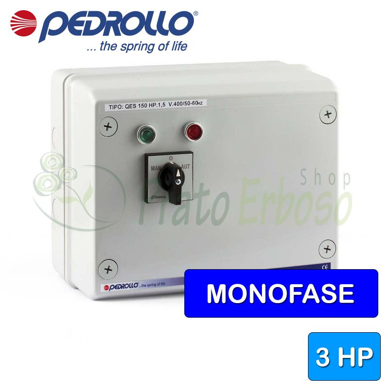 QSM 300 - electric panel for electric pump, single-phase 3 HP