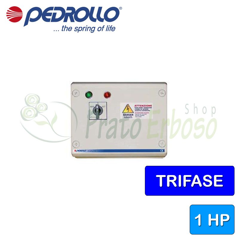 QST 100 - Electric panel for 1 HP three-phase electric pump