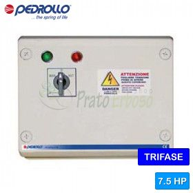 QST 750 - electric panel for electric pump, three phase 7.5 HP