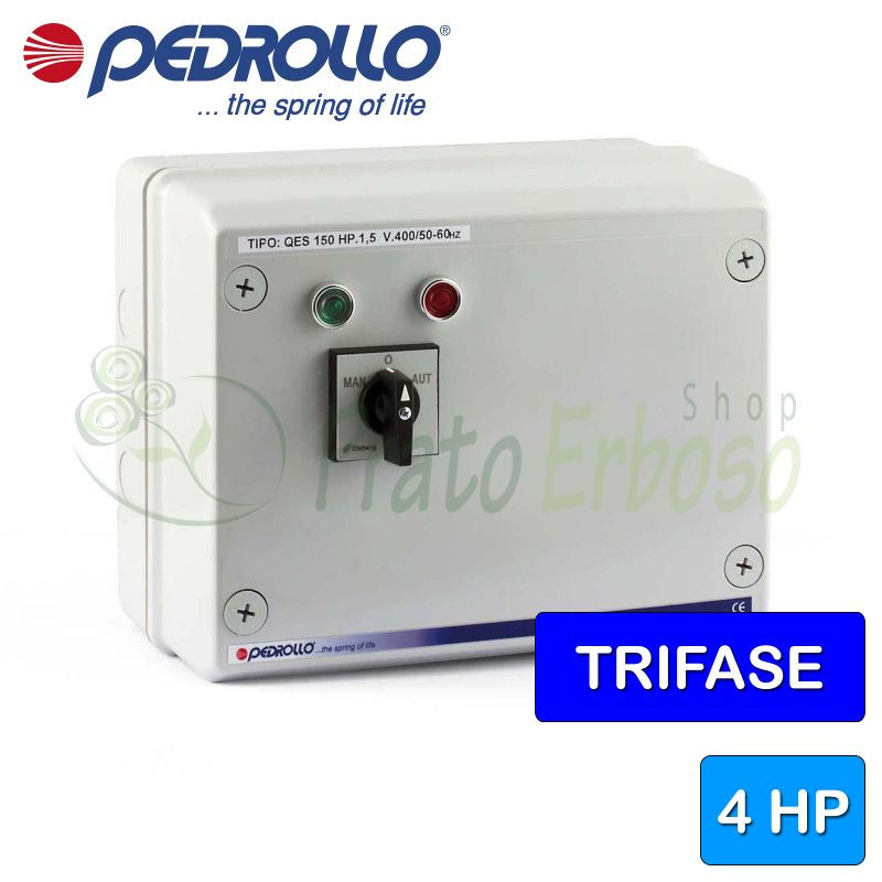 QES 400 - Electric panel for 4 HP three-phase electric pump