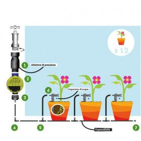 Kit irrigation for terrace