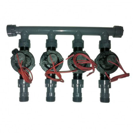 """coll-ez-flo-plus-tp4 - Manifold from 1"""" to 4 zones"""