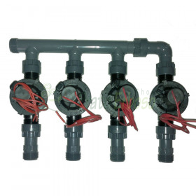 "coll-ez-flo-plus4 - Manifold from 1"" to 4 zones"