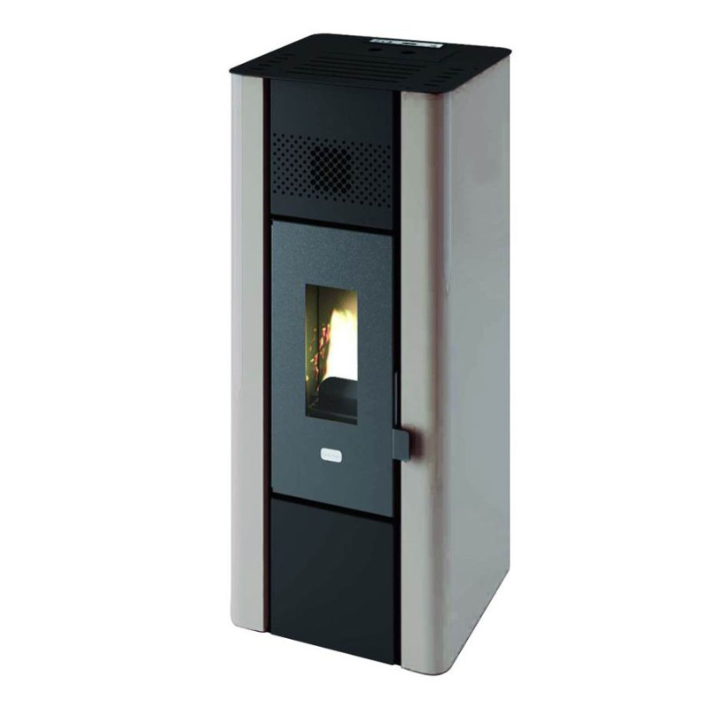 minni pellet ofen von 6 3 kw wei punto fuoco. Black Bedroom Furniture Sets. Home Design Ideas