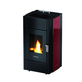 Pretty Majolica pellet Stove 8.5 Kw red