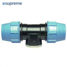 """S085016034 - Tee at 90 degrees to 16 compression x 3/4"""" x 16"""