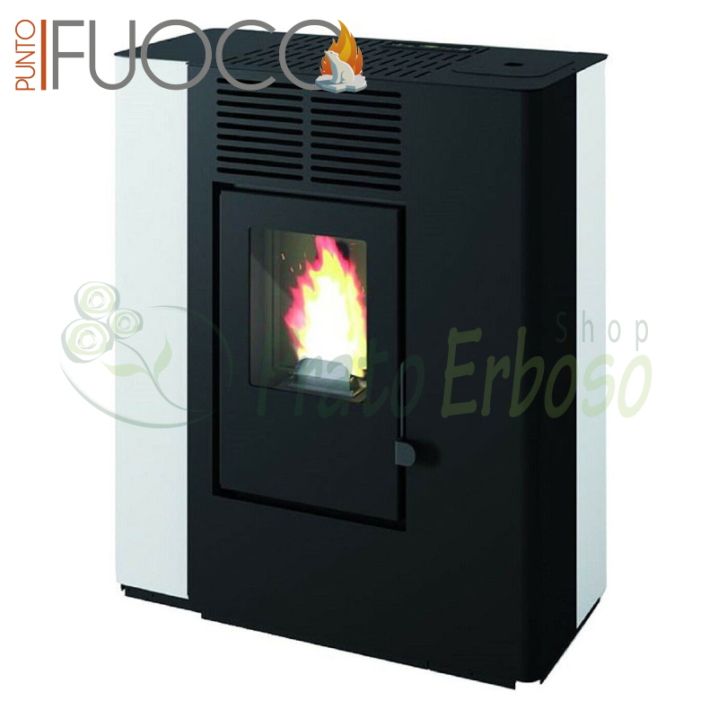 In - pellet Stove from 9.2 Kw white
