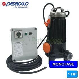 TRm 0.75 - submersible electric Pump with grinder single phase
