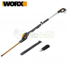 WG252E - Telescopic hedge trimmer with 20V battery