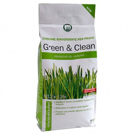 Green & Clean - Greening and anti-moss fertilizer of 4 Kg