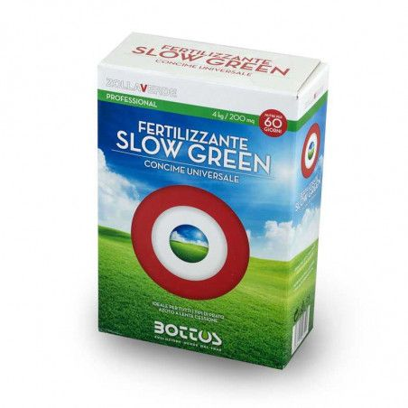 Slow Green 18-6-12 + 2 MgO - Fertilizer for the lawn 4 Kg